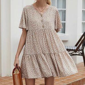 Flutter sleeve baby doll dress